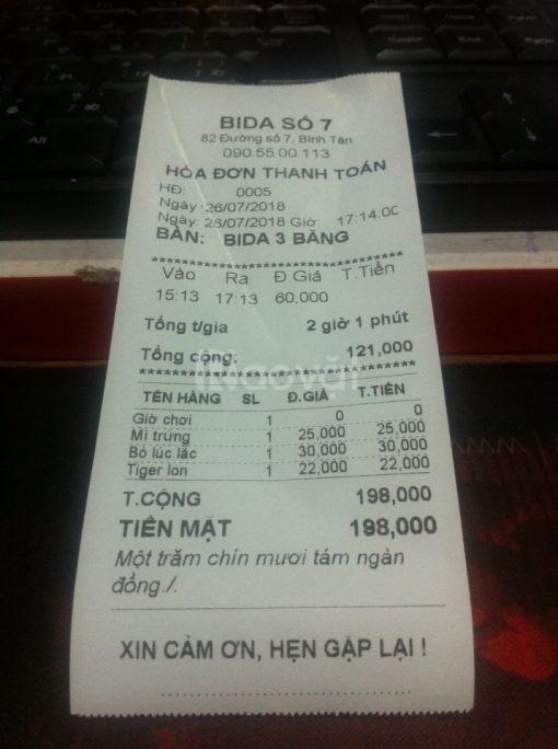 Giấy in hóa đơn giá rẻ tại Đồng Nai