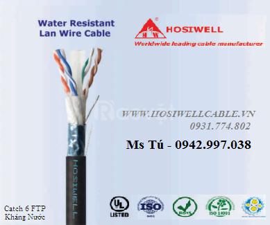 Cáp mạng chống nước Cat.6 FTP 4P 23AWG, màng Al-Foil chống nhiễu