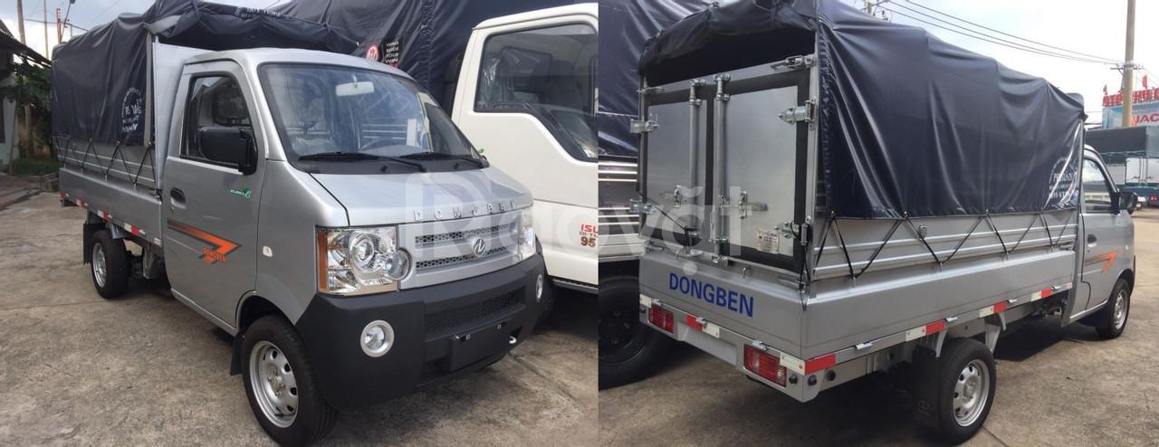 Bán xe tải dongben 810Kg thùng mui bạt