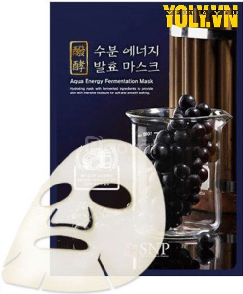 Mặt nạ dưỡng ẩm tinh chất SNP Aqua Energy Fementation Mask