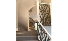 Lan can cầu thang sắt CNC hoa văn hiện đại