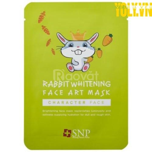 Mặt nạ dưỡng trắng da Hàn Quốc SNP Rabbit Whitening Face Art Mask