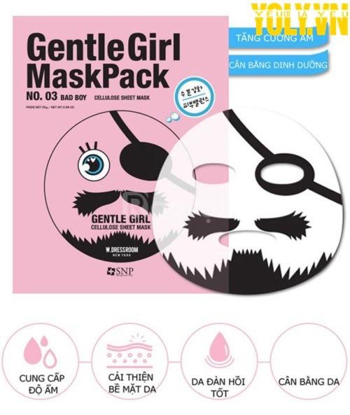 Mặt nạ dưỡng ẩm Hàn Quốc Gentle Girl Bad Boy Aqua Mask Pack