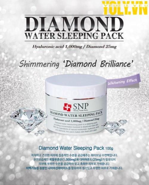 Mặt nạ ngủ tinh chất kim cương SNP Diamond Water Sleeping Pack (ảnh 6)