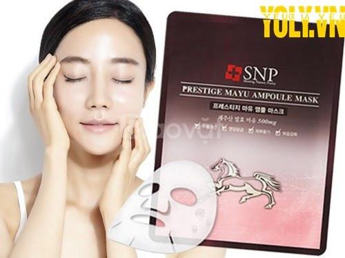 Mặt nạ tinh chất dầu ngựa SNP Prestige Mayu Ampoule Mask