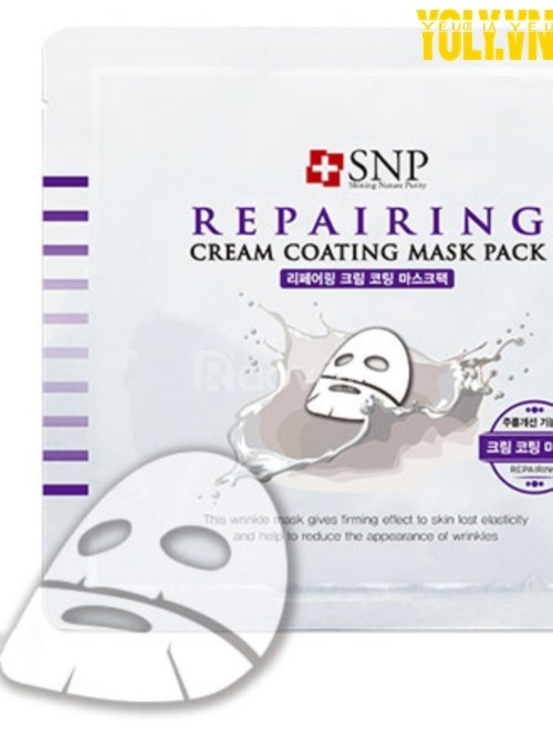Mặt nạ mặt chống lão hóa SNP Repairing Cream Coating Mask Pack