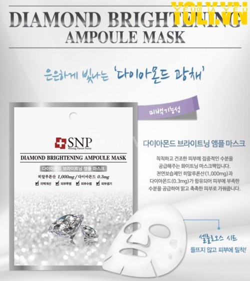 Mặt nạ tinh chất kim cương SNP Diamond Brightening Ampoule Mask