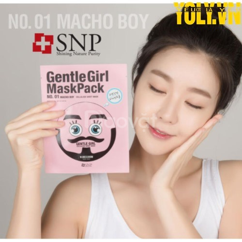 Mặt nạ cấp ẩm SNP Gentle Girl Macho Boy Soothing Mask Pack