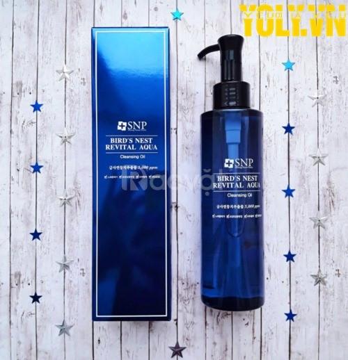 Dầu rửa mặt tẩy trang SNP Bird's Nest Revital Aqua Cleansing Oil