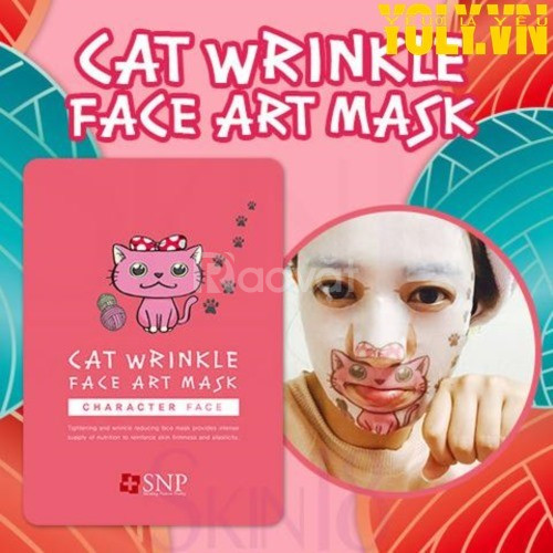 Mặt nạ cải thiện nếp nhăn SNP Cat Wrinkle Face Art Mask