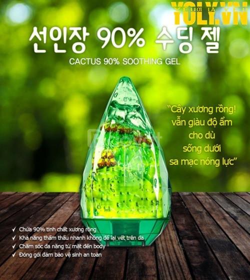 Gel làm dịu da tinh chất xương rồng SNP Cactus 90% Sooting Gel