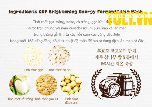 Mặt nạ lên men dưỡng trắng SNP Brightening Energy Fementation Mask