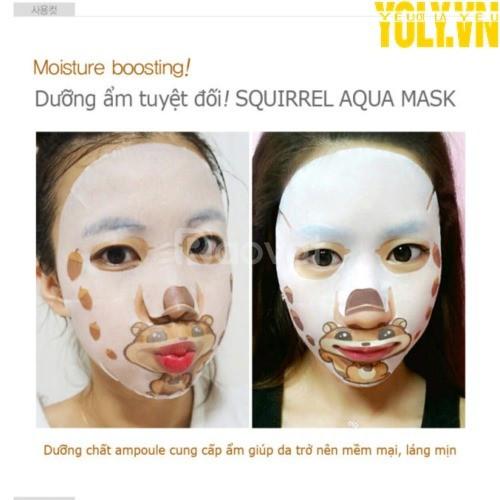 Mặt nạ selfie sóc nâu dưỡng ẩm SNP Squirrel Aqua Face Art Mask