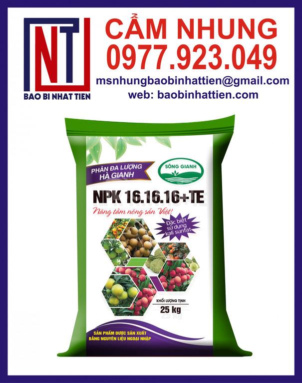 Bao phân bón xuất khẩu, bao bì phân bón, thuốc trừ sâu