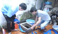 Thau rửa bể nước ăn, bể ngầm, bồn inox tại Nguyễn Trung Trực giá 100K