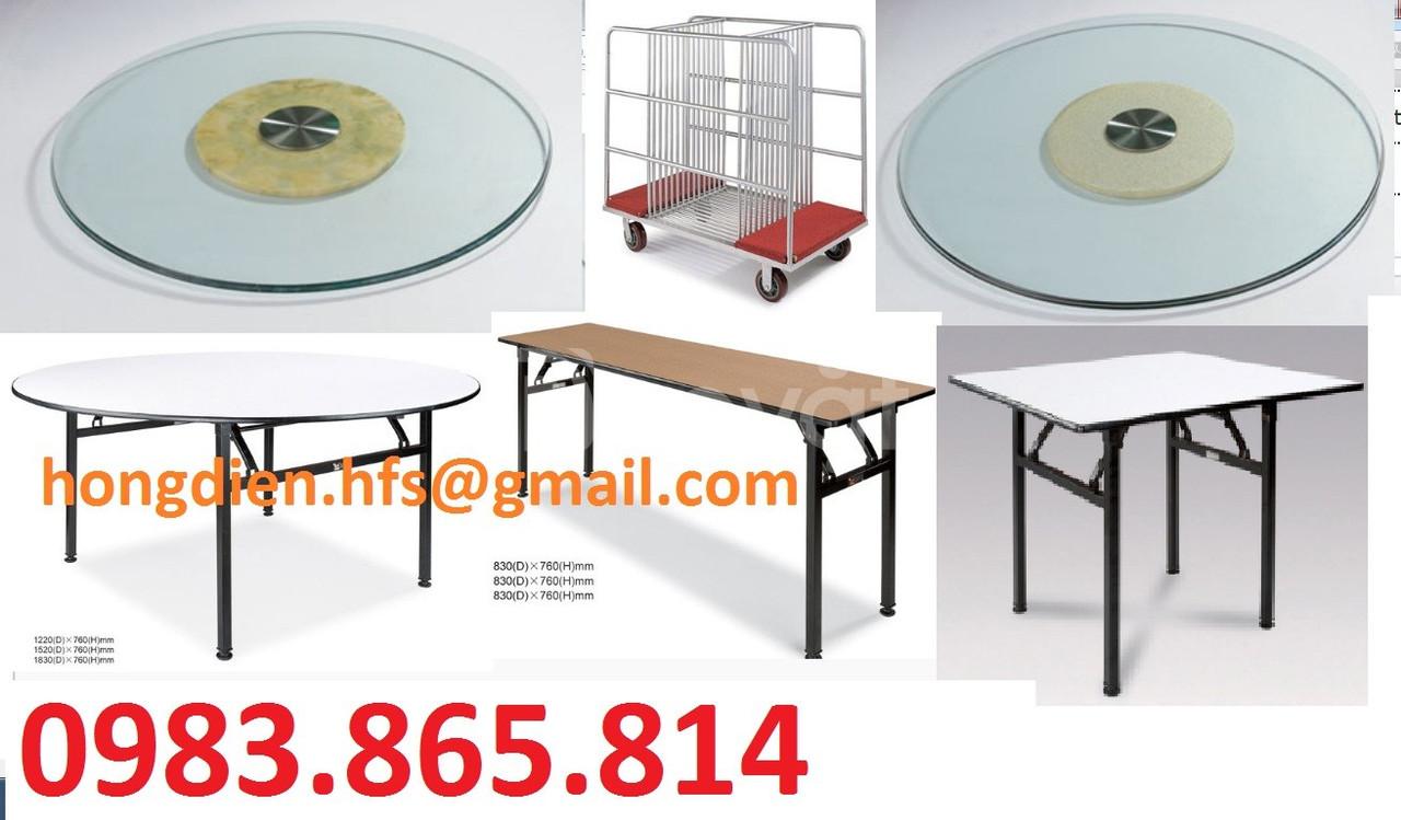 Cung cấp bàn tiệc hội nghị, bàn tròn, ghế hội nghị, mặt kính xoay