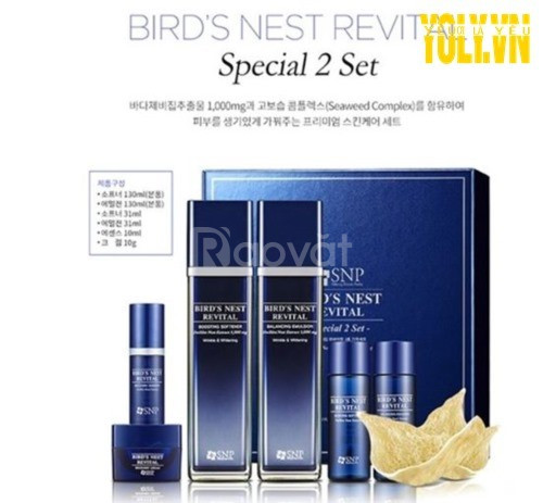 Bộ sản phẩm chăm sóc da SNP Bird's Nest Revital Recovery Special 2 Set