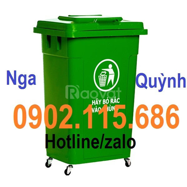 Thùng rác y tế 60L, xe gom rác y tế 60l,thùng rác y tế màu vàng