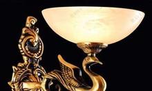 Đèn treo tường đồng chao đá vàng N8355