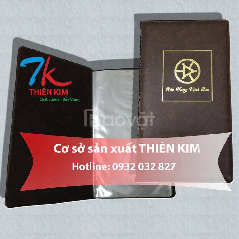 Nơi sản xuất bìa menu da, cuốn thực đơn da, bán bìa kẹp bill tính tiền