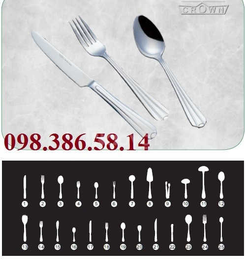 Cung cấp thìa dĩa nhà hàng, dao thìa dĩa inox, dao thìa dĩa tiệc