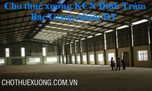 Cho thuê kho xưởng tại Bắc Giang trong Khu công nghiệp Đình Trám