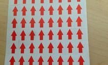 Decal dán giảm giá khuyến mại - tem dán lỗi may mặc mũi tên
