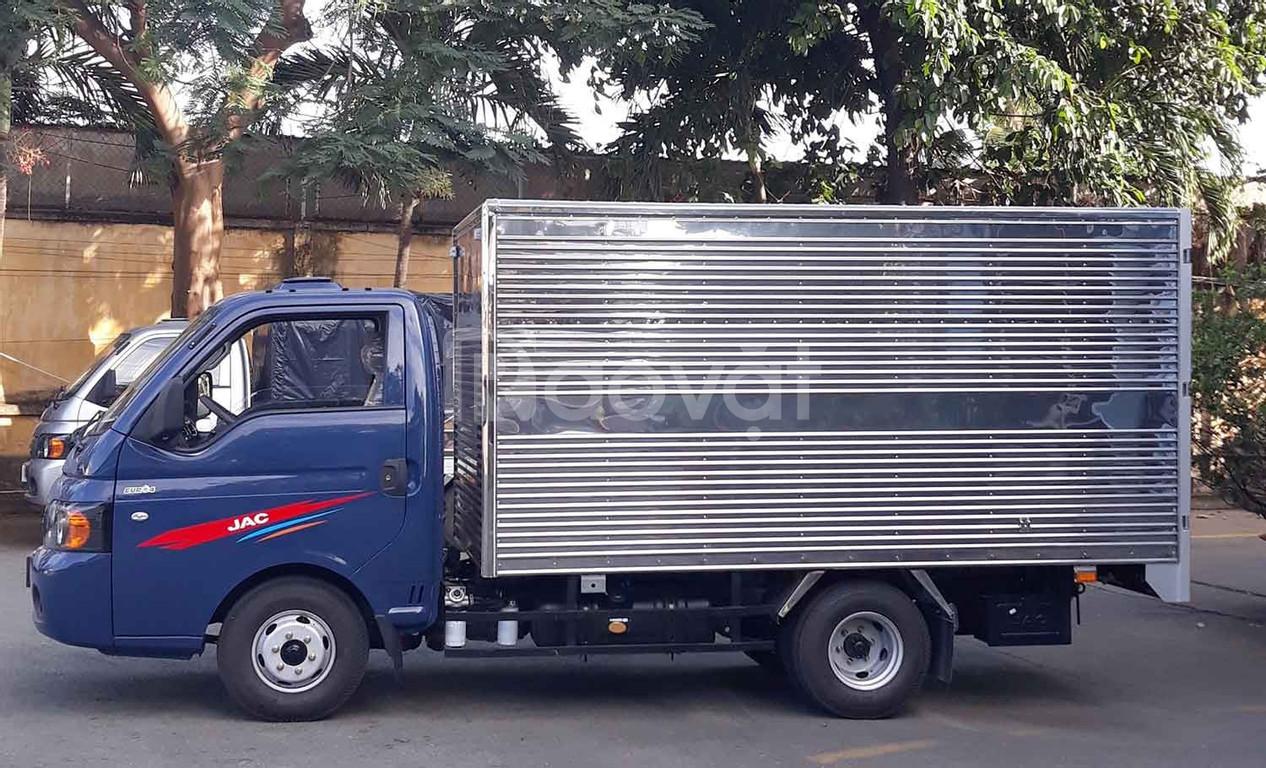 Xe tải jac x5 990kg thùng kín máy xăng