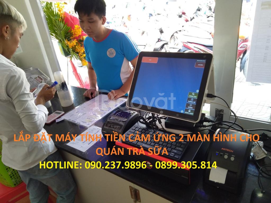 Lắp đặt máy tính tiền cho quán trà sữa giá rẻ tại Bắc Ninh