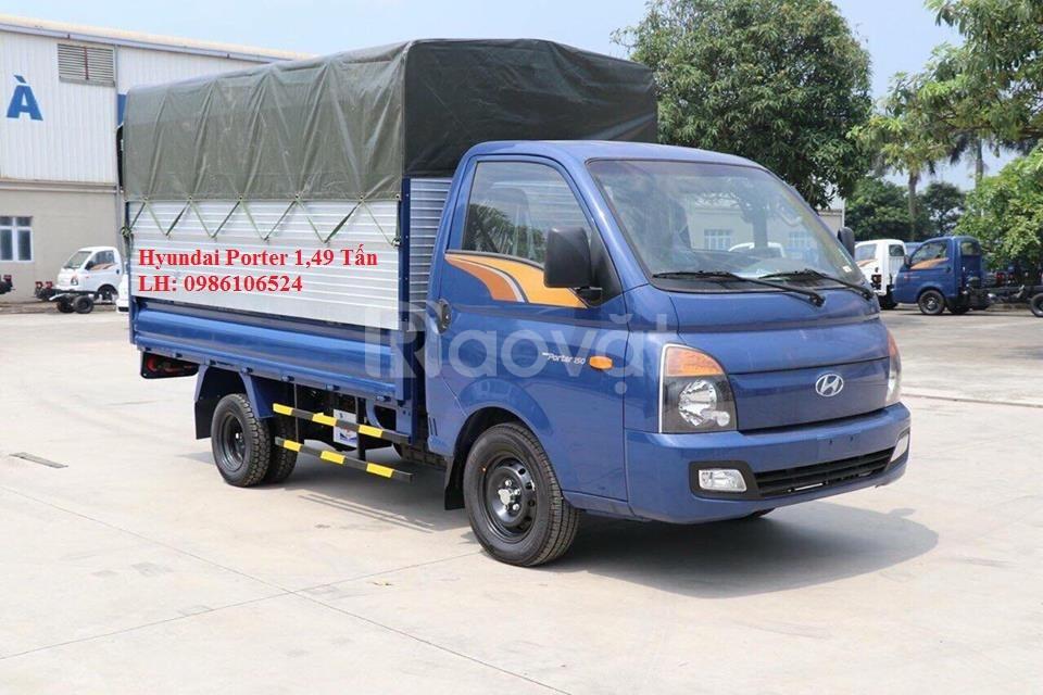 Tặng 10tr tiền mặt khi mua xe tải Hyundai Porter 1,49 Tấn trước tết (ảnh 1)