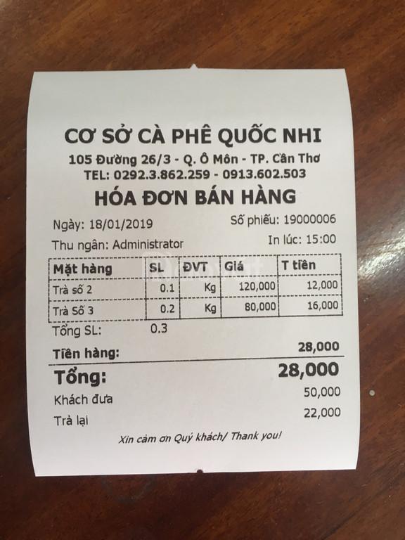 Cung cấp máy tính tiền cho cơ sở cafe giá rẻ trên toàn quốc
