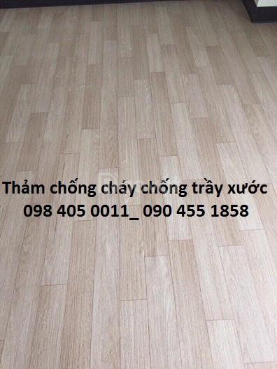 Tấm nhựa lót sàn PVC vân gỗ giá rẻ