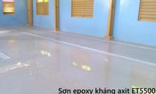 Sơn nền nhà xưởng Epoxy thi công sơn sàn Epoxy kcc ET5500 kháng axit