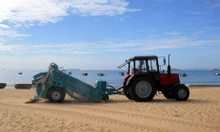 Máy làm sạch bãi biển, cào rác bãi biển - Mỹ