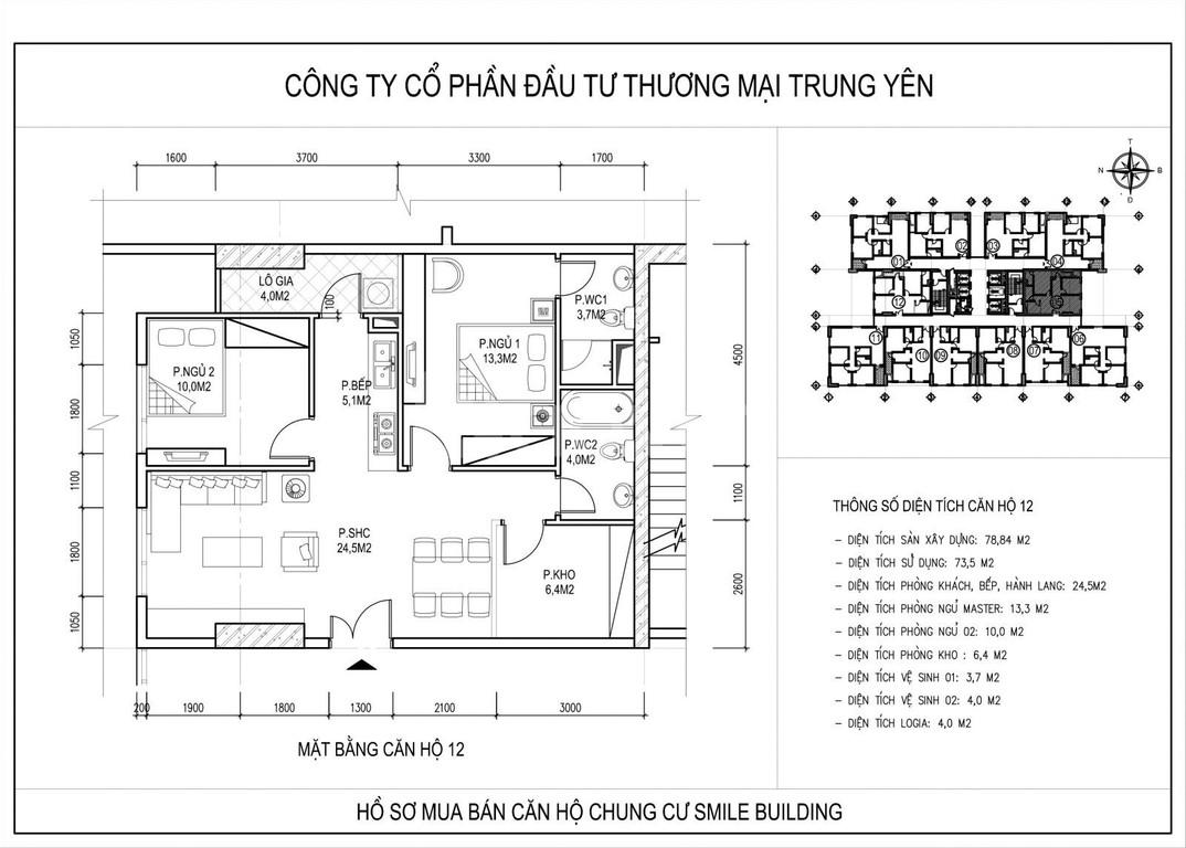 Chính chủ cần tiền bán gấp căn 605 dự án Smile Building