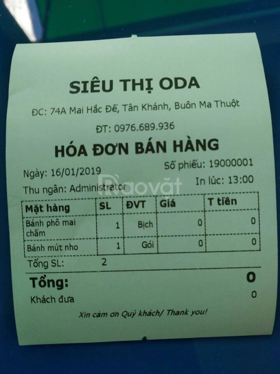 Bán máy tính tiền cho siêu thị tạp hóa tại Lâm Đồng