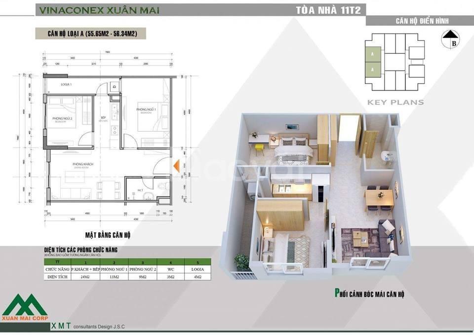 Chung cư 11T2 - 100 triệu đã có thể sở hữu căn hộ ở ngay