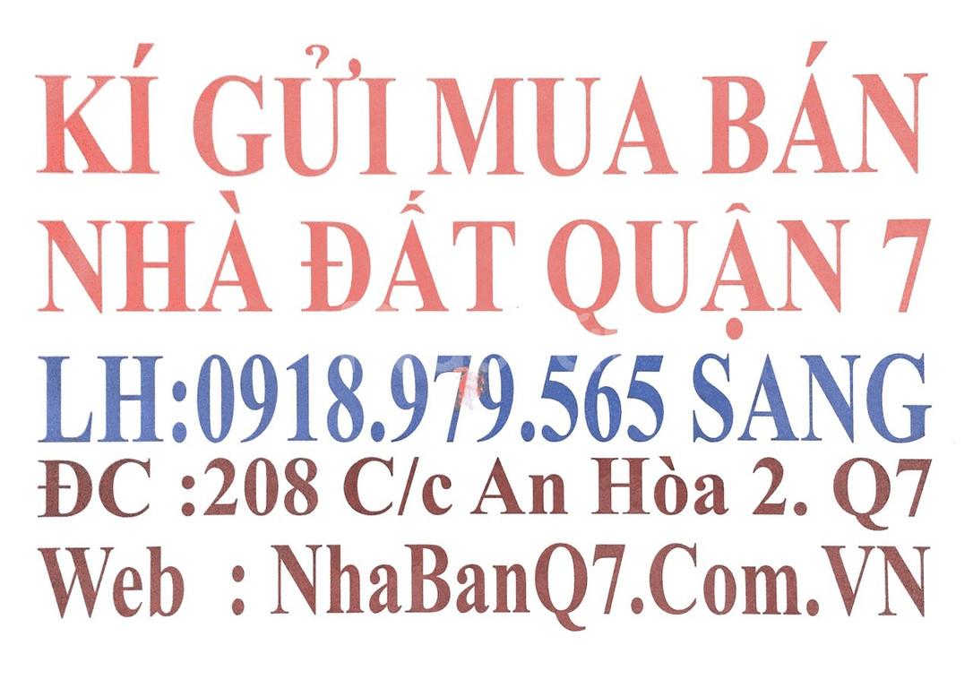 Bán nhà cấp 4 mặt tiền hẻm 1135 đường Huỳnh Tấn Phát Quận 7