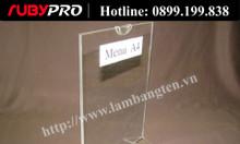Kệ Mica Menu A4 - kệ thực đơn để bàn