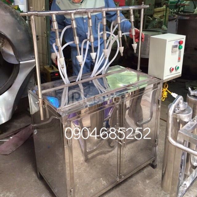 Máy chiết rót 6 vòi bán tự động bền đẹp với thời gian