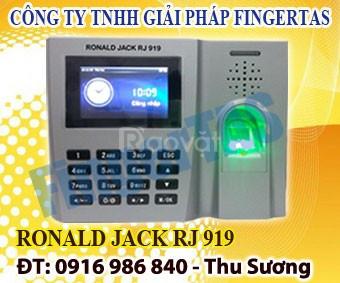Chuyên lắp đặt máy chấm công vân tay rj 919, vân tay nhạy