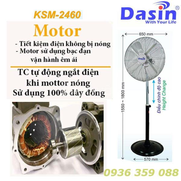 Báo giá quạt đứng công nghiệp Dasin KSM-2460