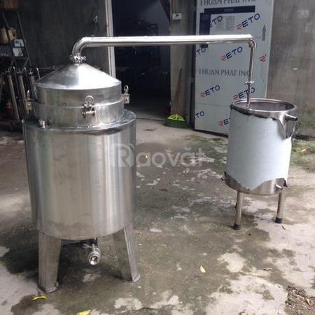 Nồi nấu rượu mini (10-20kg/mẻ) phù hợp với hộ gia đình kinh doanh nhỏ