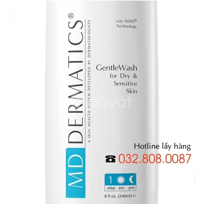Sữa rửa mặt cho da nhạy cảm GentleWash Gentle Cleanser MD Dermatics