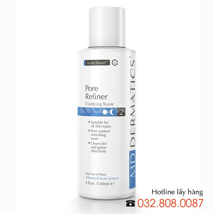 Nước hoa hồng đặc trị mụn Pore Refiner MD Dermatics