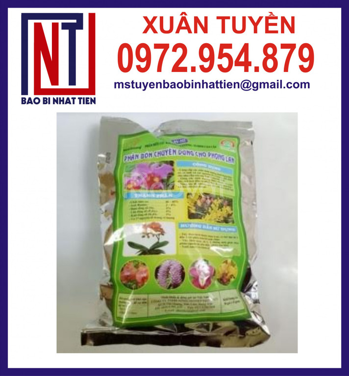 Bao bì ghép màng nhôm đựng phân bón 500gr, 1kg