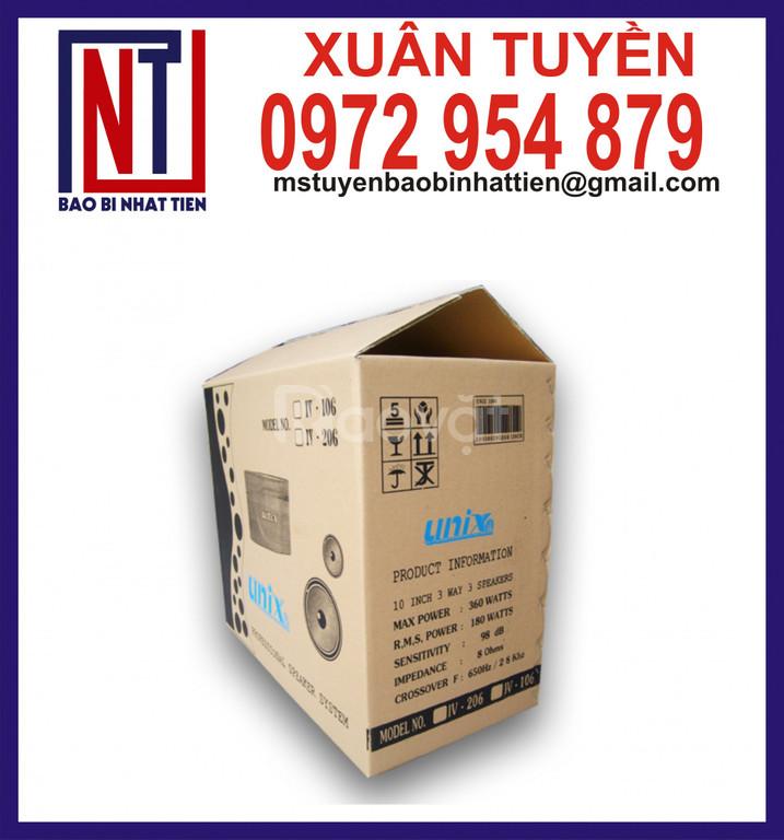 In thùng carton giá rẻ, thùng carton đựng inox