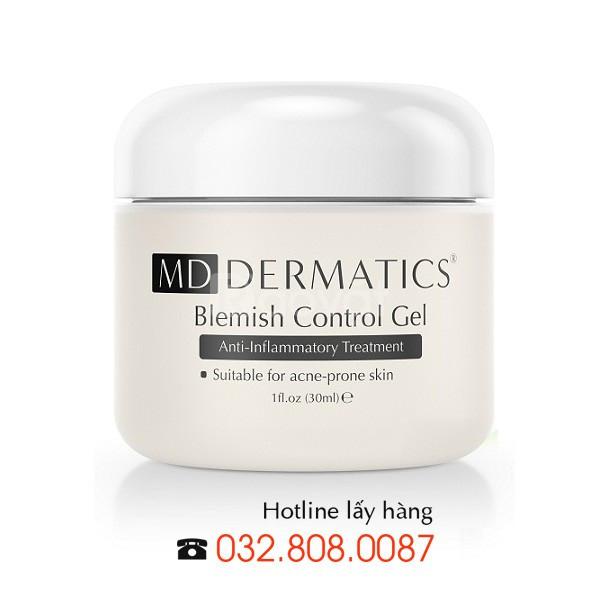 Gel điều trị mụn trứng cá Blemish Control Md Dermatics