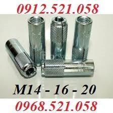Bu lông nở 3 cánh, nở đóng thép mạ M14,M16,M20 nở sắt