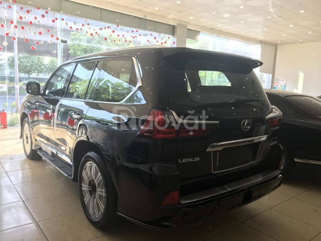 Bán Lexus LX570 Super Sport 2019 màu đen, nội thất nâu đỏ, xe nhập